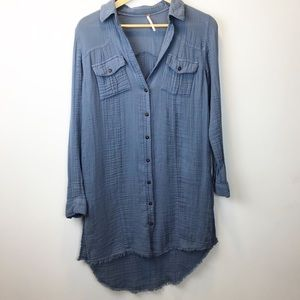 Free People | Over Sized Chambray Button Up
